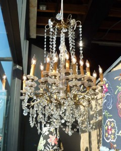 antique belgian chandelier for the entry
