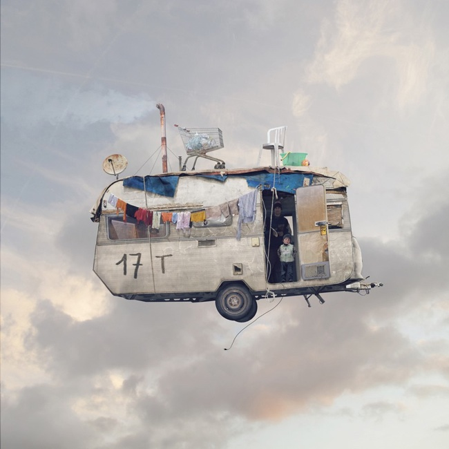 laurent chehere flying house art no.11