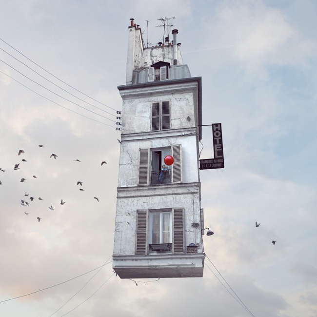laurent chehere flying house art no.13
