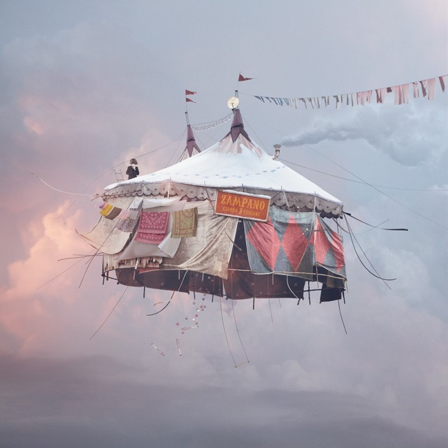 laurent chehere flying house art no.9
