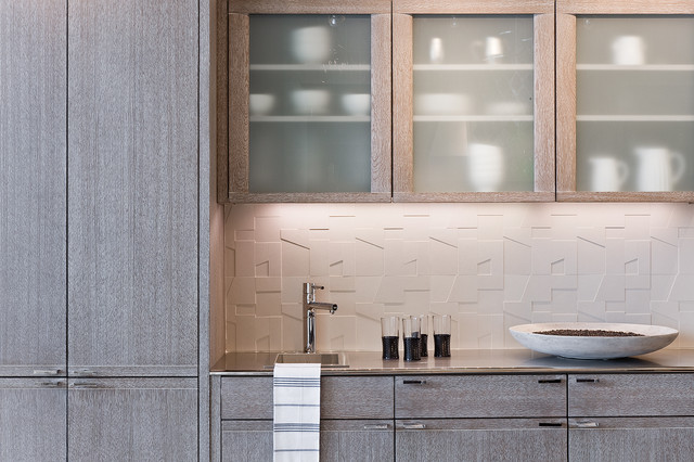 cerused grey kitchen cabinetry by venegas and company via kishani