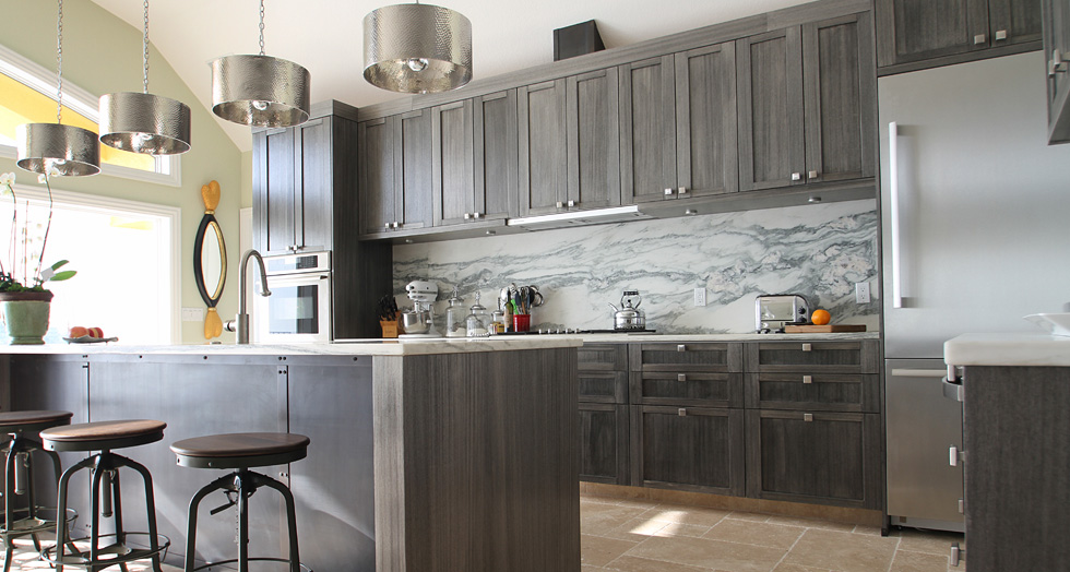 Grey Stained Cabinetry Kitchen Designed By T2thes Via Kishani Perera