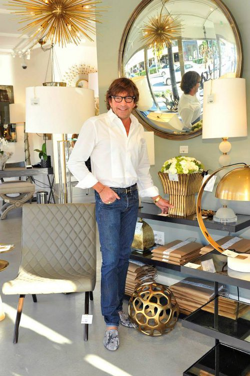 founder and creative director mark moussa in arteriors los angeles showroom via kishani perera blog