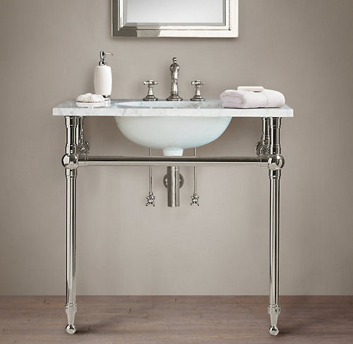 gramercy single metal washstand via kishani perera blog
