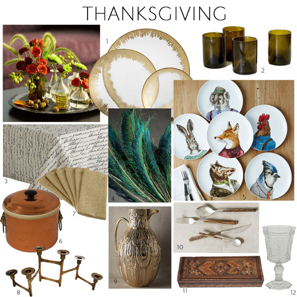 thankgiving table via kishani perera inc.