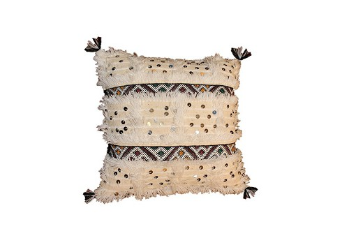 moroccan wedding blanket pillow via kishani perera inc.