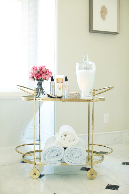 bathroom bar cart via kishani perera blog