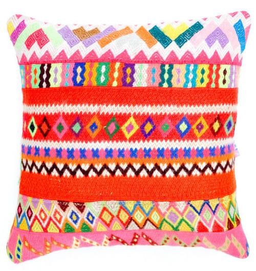 peruvian embroidered pillow cover via kishani perera blog