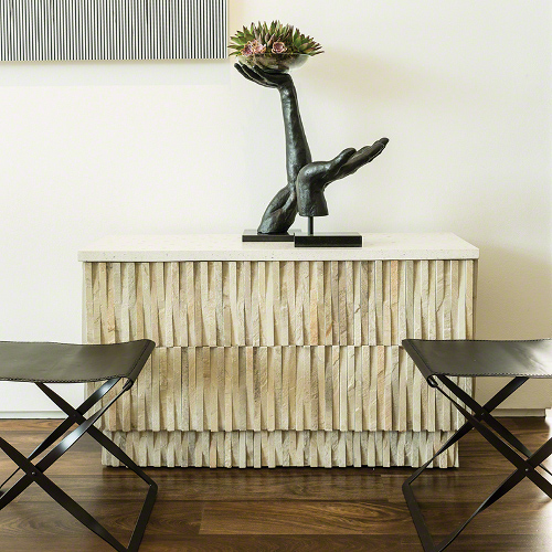 teeter totter console table via kishani perera blog