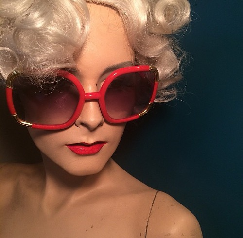 vintage les lunettes sunglasses via rummage