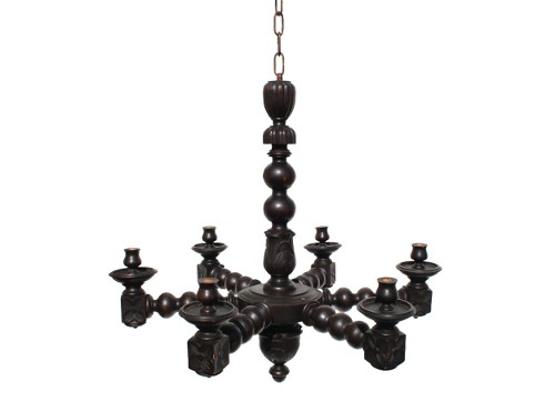 antique wood spanish chandelier via rummage
