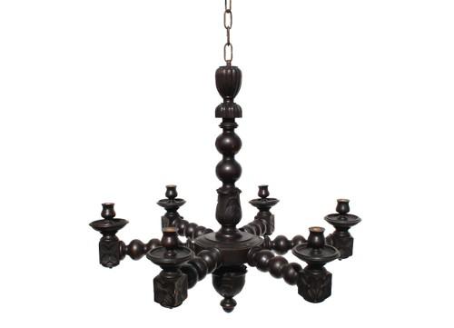 antique wood spanish chandelier via rummage