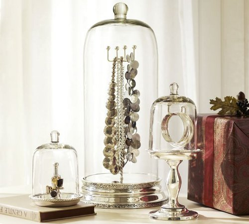 glass cloche jewelry storage via kishani perera blog