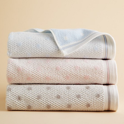 kassatex bambini polka dot towels via kishani perera blog