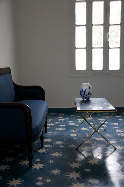 hex star cement tile via kishani perera blog