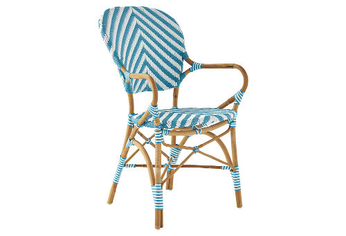 serena & lily chevron armchair via kishani perera blog