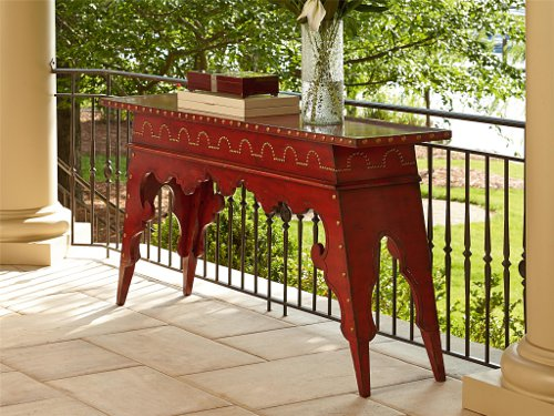 moroccan console table via kishani perera inc.