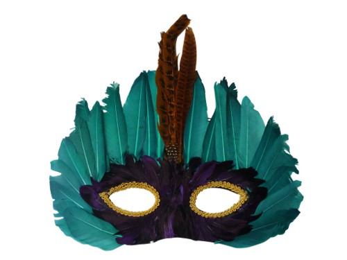 vintage mardi gras feather mask via rummage