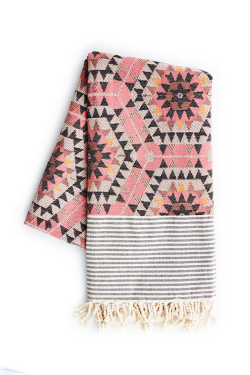 aztec blanket in rose via kishani perera blog