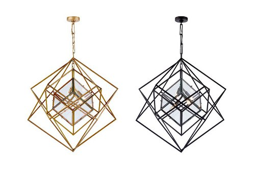 cubist medium chandeliers via kishani perera blog