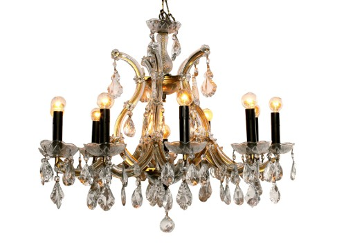 antique crystal chandelier via rummage