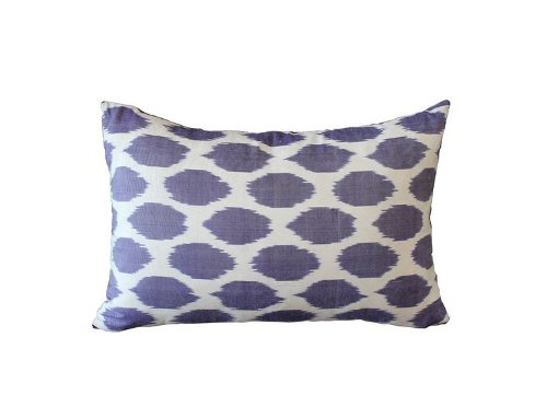 purple ikat kidney pillow via rummage