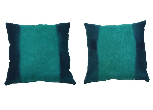 dip dyed pillows via rummage