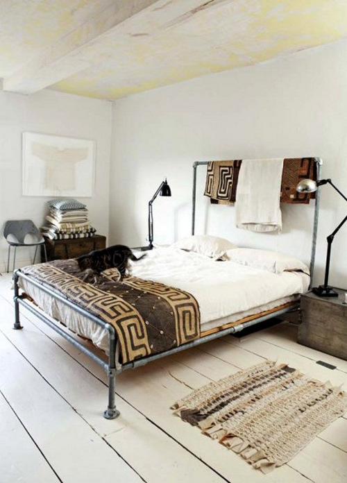 galvanized pipe bed via kishani perera blog