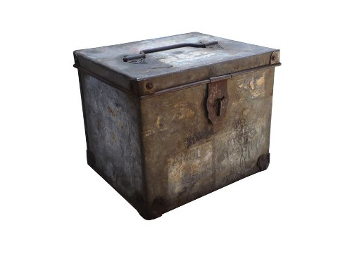 industrial zinc box via rummage
