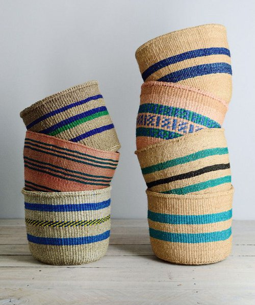 kenyan basket blue collection via kishani perera blog