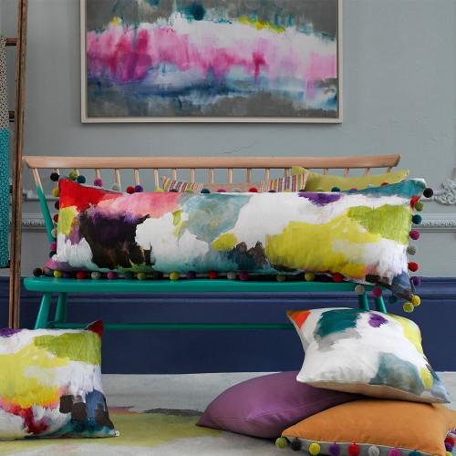 nevis pom pom cushion via kishani perera blog