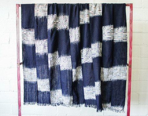 nigerian cotton indigo throw via kishani perera blog