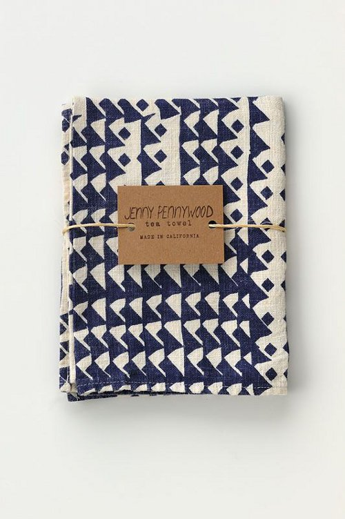 triangles tea towel via kishani perera blog
