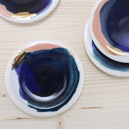 redraven painterly dipping plates via kishani perera blog