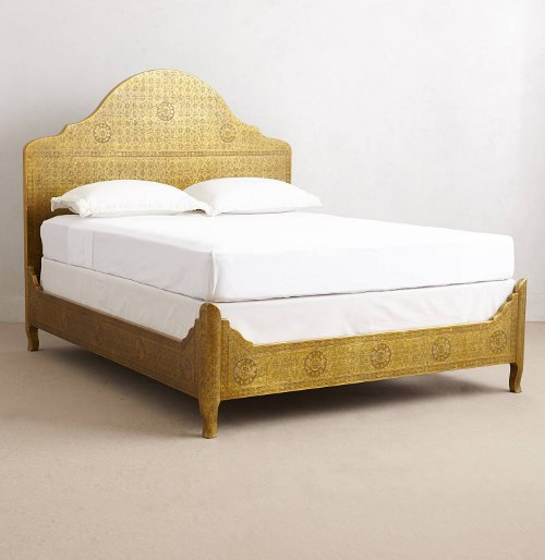 hand-embossed bed via kishani perera blog