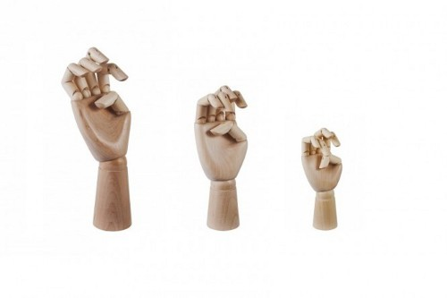wooden hands via kishani perea blog