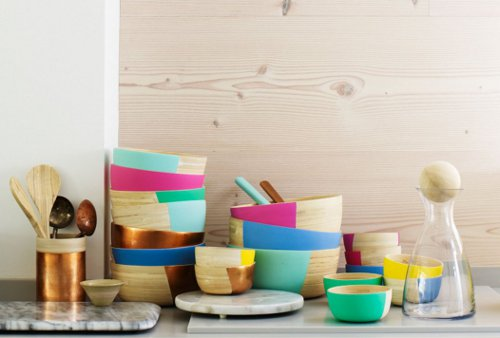 colour pop matt bamboo bowl via kishani perera blog