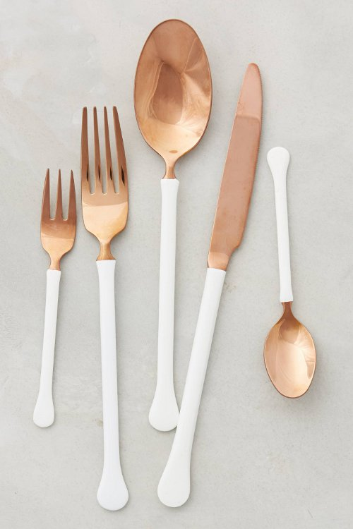 copper top flatware via kishani perera blog