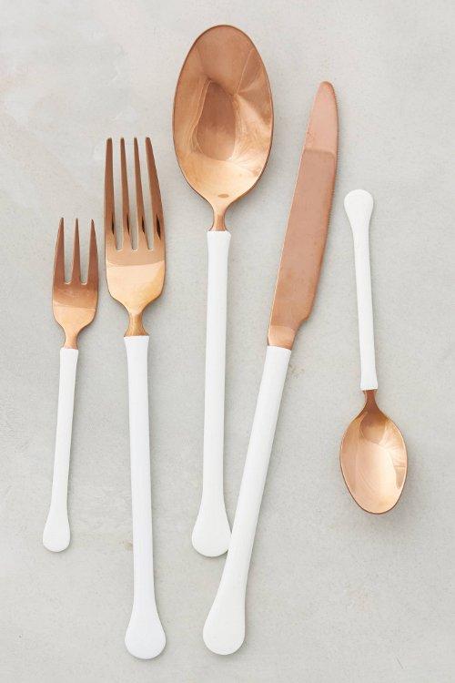 copper top flatware via kishani perera blog