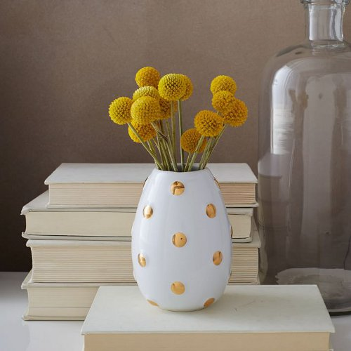 geometric ceramic bud vase via kishani perera blog