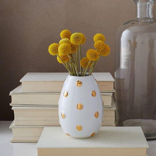 geometric ceramic bud vase via kishani perera blog