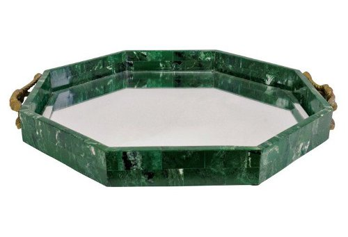 malachite style mirrored tray via kishani perera blog