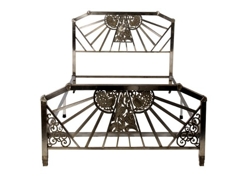 peacock bed frame via rummage