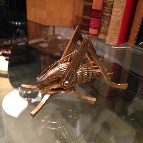 brass grasshopper via rummage