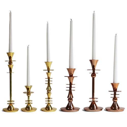 emblem brass and copper candlesticks via kishani perera blog