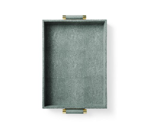 emerald shagreen butler tray via kishani perera blog