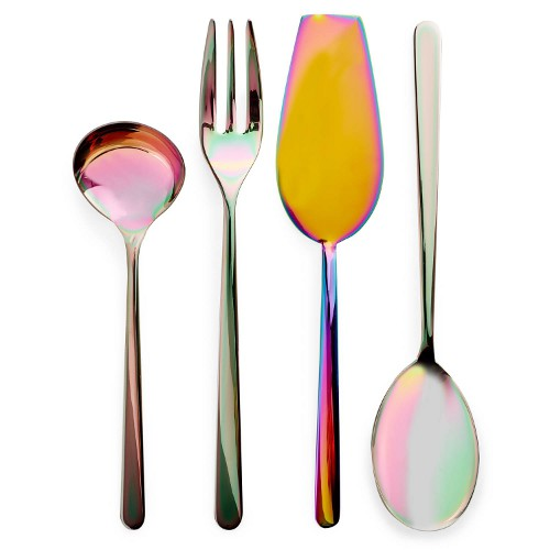 iridescent serving utensils via kishani perera blog