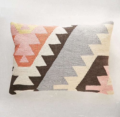 plum and blow tepec kilim pillow via kishani perera blog