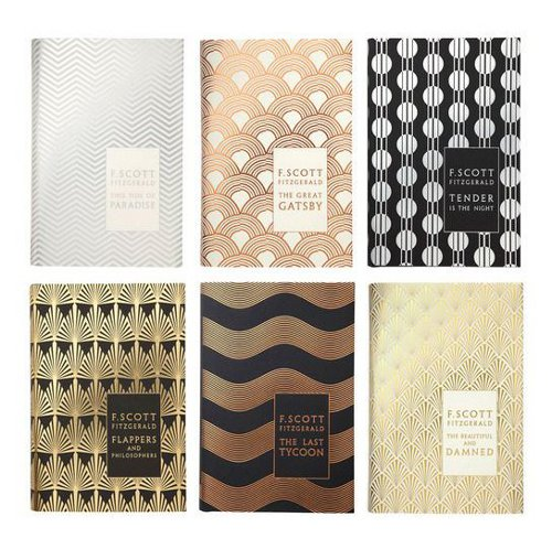 art deco f. scott fitzgerald book series via kishani perea blog