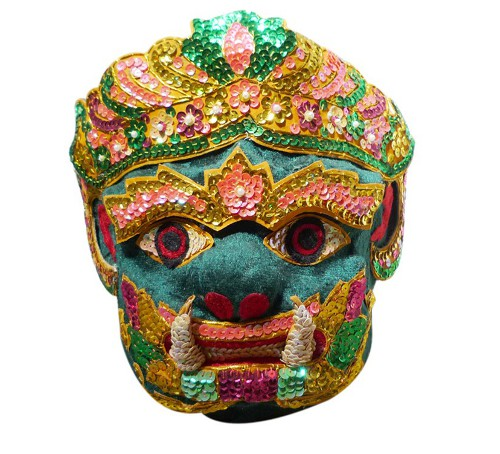 vintage thai ceremonial mask via rummage